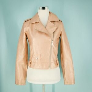 Collection B XS Faux Vegan Leather Jacket